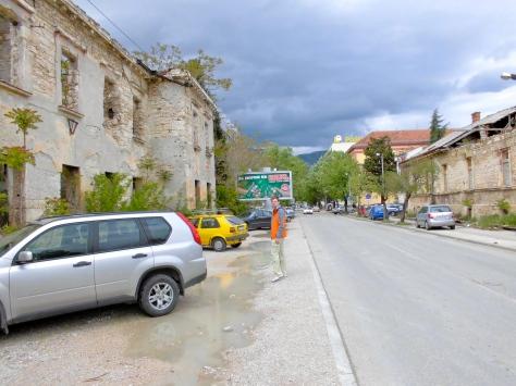 Ligne de front à Mostar, avril 2012