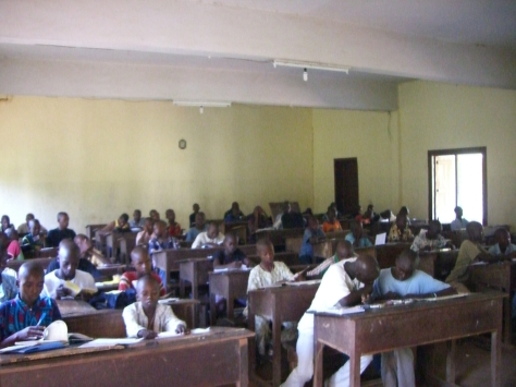 Centrafrique, Sibut, 2009: la salle d'étude du Petit Séminaire Saint-Marcel