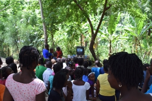 Mission d'évangélisation dans les mornes haïtiennes, juillet 2014