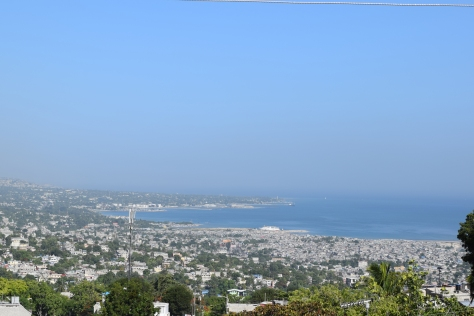 Vue sur Port-au-Prince et Carrefour, août 2014