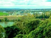 Achères, vue depuis Herblay