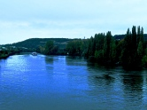 La Seine et l'île de Limay, vue du Pont de Mantes-la-Jolie
