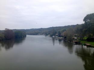 La Seine et l'île Bunel, vue du Pont de Saint-Pierre-du-Vauvray