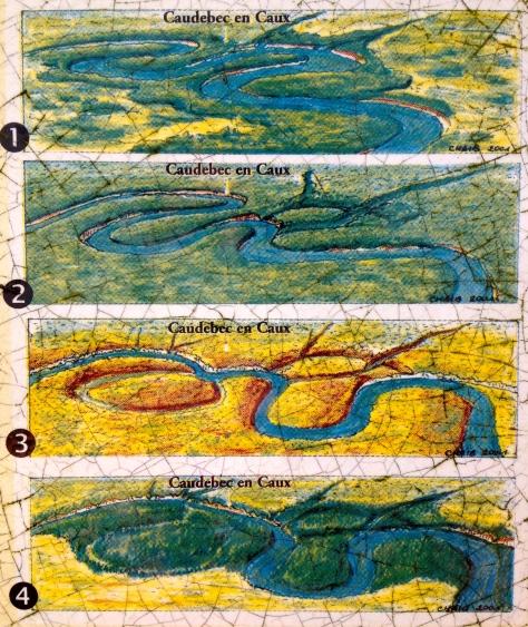 L'histoire de la boucle de Caudebec en Caux