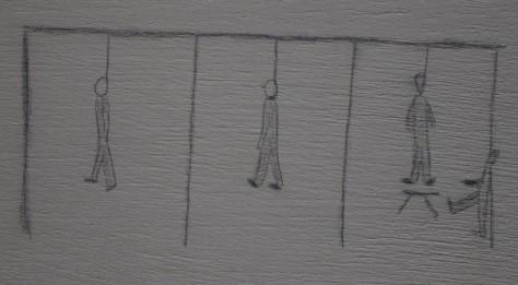 Dessin d'enfant déporté à Auschwitz