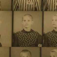 Jeune déportée à Auschwitz, photographiée par les SS
