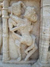 Scène du Kamasutra, Chittorgarh, Rajasthan, Inde