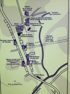 Plan de Ry / Yonville l'Abbaye
