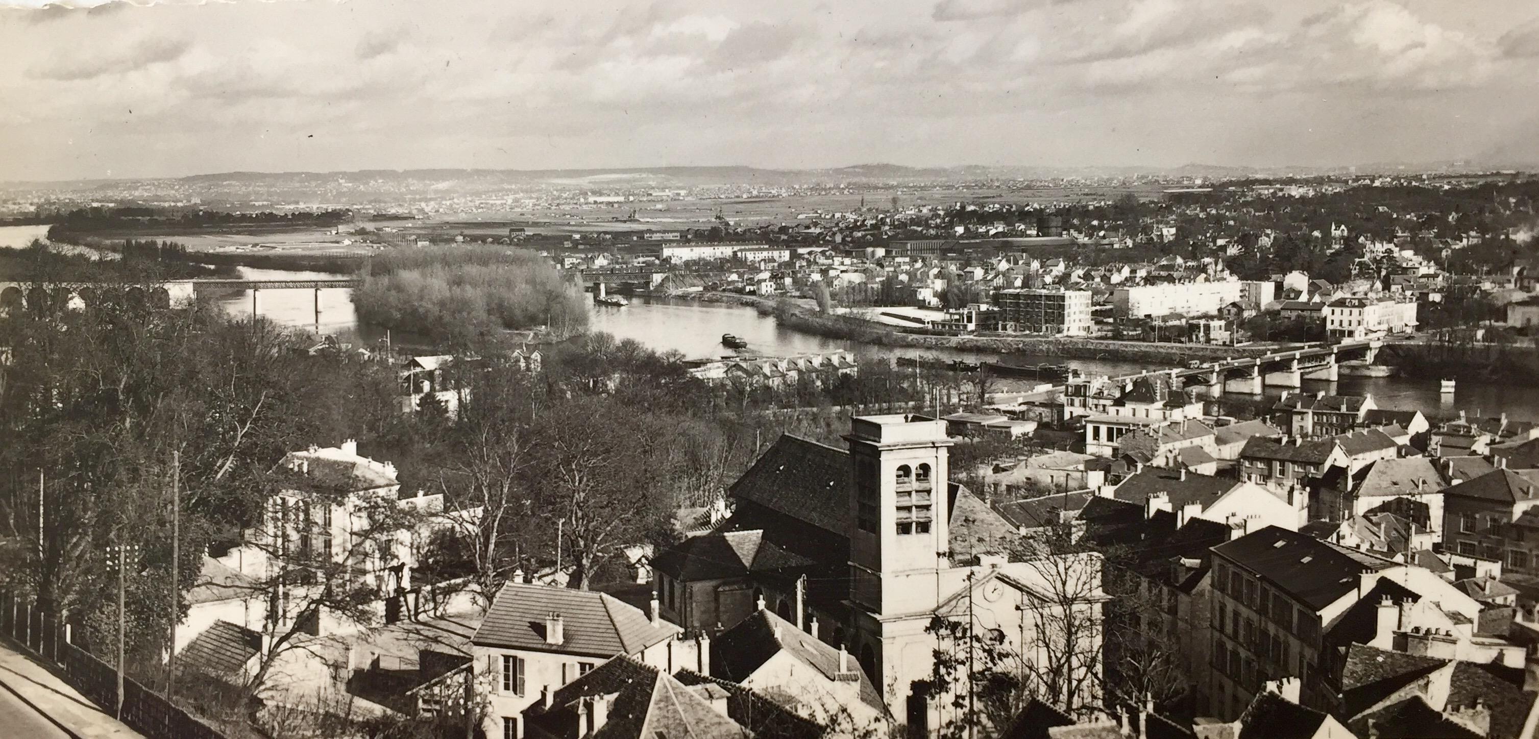 Le Pecq, vallée de la Seine, jadis
